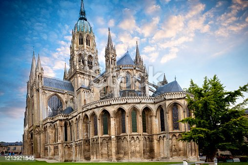 The Cathedral of Notre Dame, a masterpiece of Romanesque and Gothic architecture in Normandy, is the main Catholic place of worship in Bayeux, in the Calvados department.