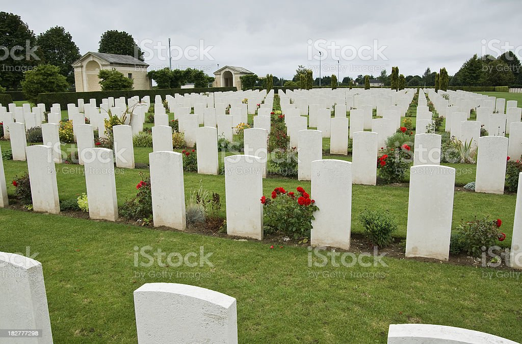 Bayeux War Cemetery stock photo
