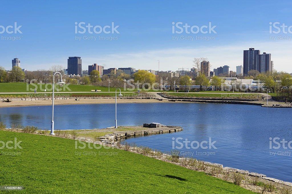 Bayfront Park in Hamilton Ontario Canada stock photo