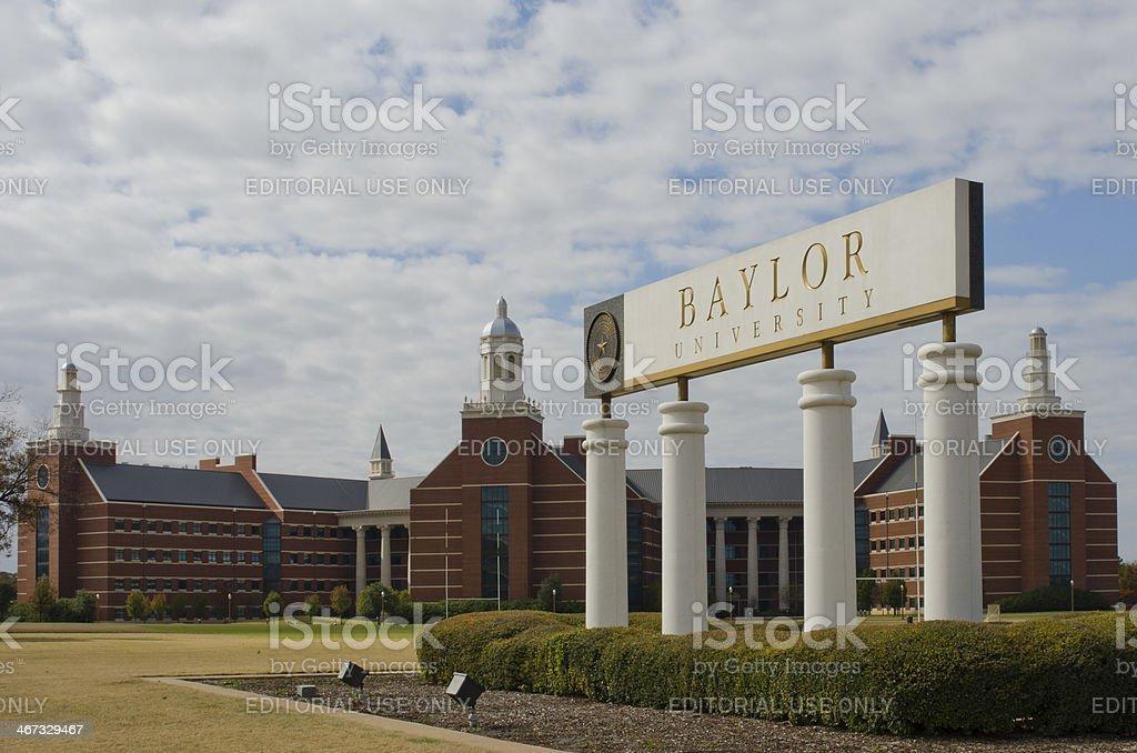 Baylor University Sciences Building royalty-free stock photo