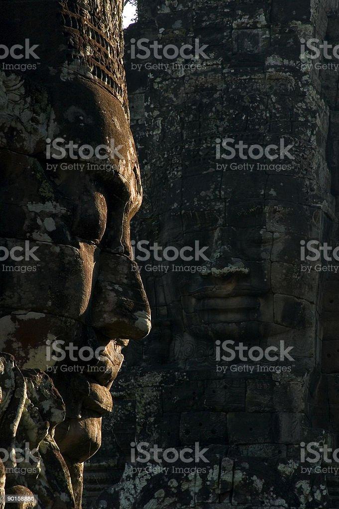 Bayon Faces royalty-free stock photo