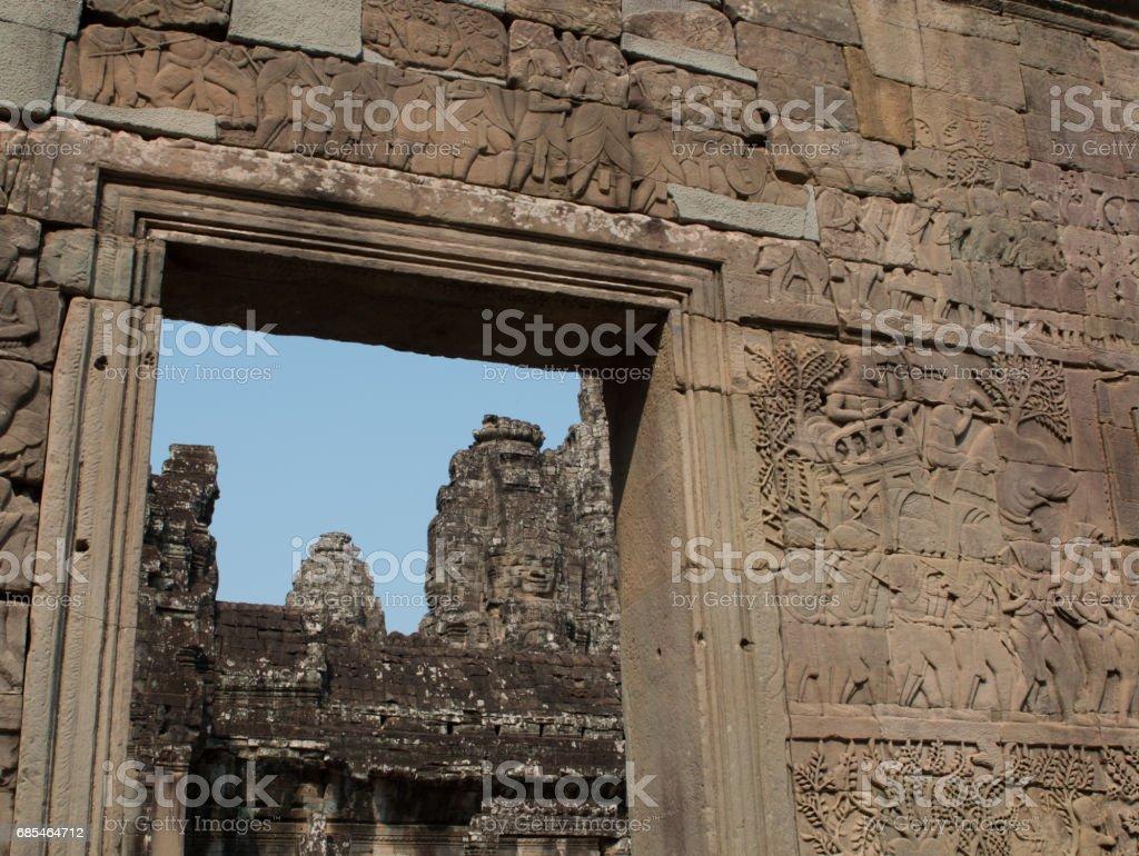 Bayon framed in a doorway foto de stock royalty-free