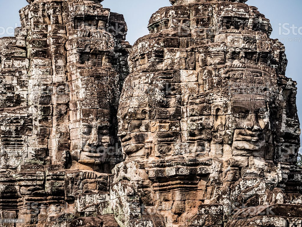 Bayon temple Angkor Thom Cambodia stock photo