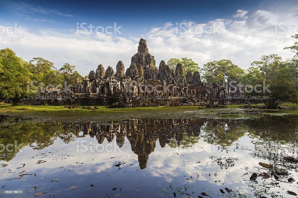 Bayon Temple, Angkor Thom stock photo