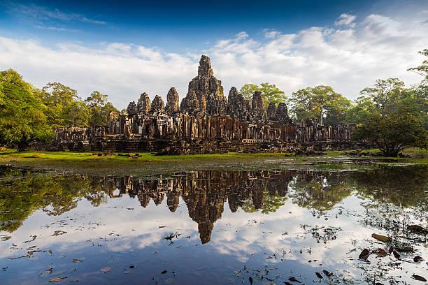 Bayon Temple, Angkor Thom stock photo