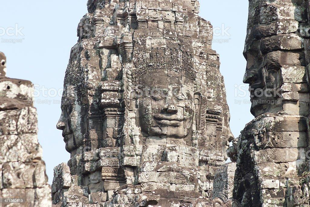 Bayon Temple, Angkor Thom royalty-free stock photo