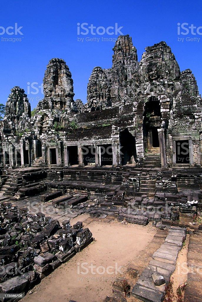 bayon temple angkor thom siem reap cambodia royalty-free stock photo
