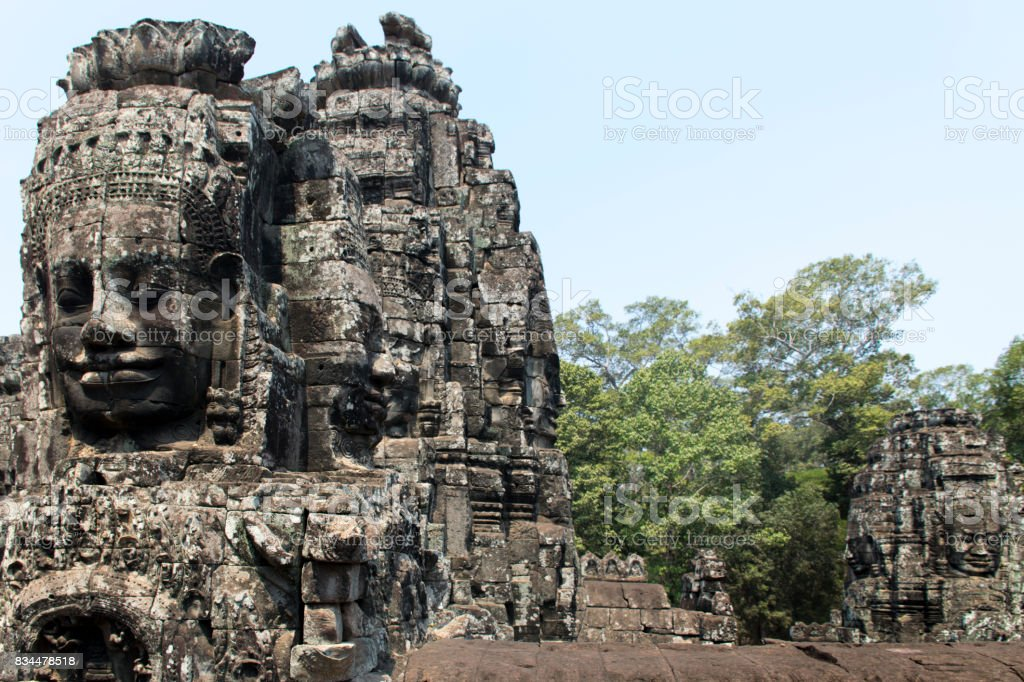Bayon, Temple, Angkor Wat, Siem Reap, Cambodia stock photo