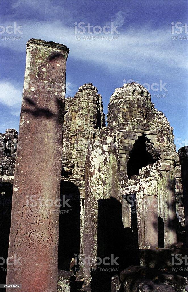 Tempio di Bayon foto stock royalty-free