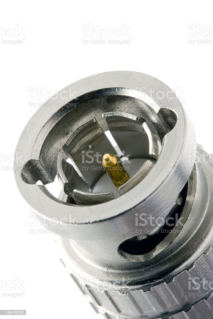 Bayonet connector close-up stock photo