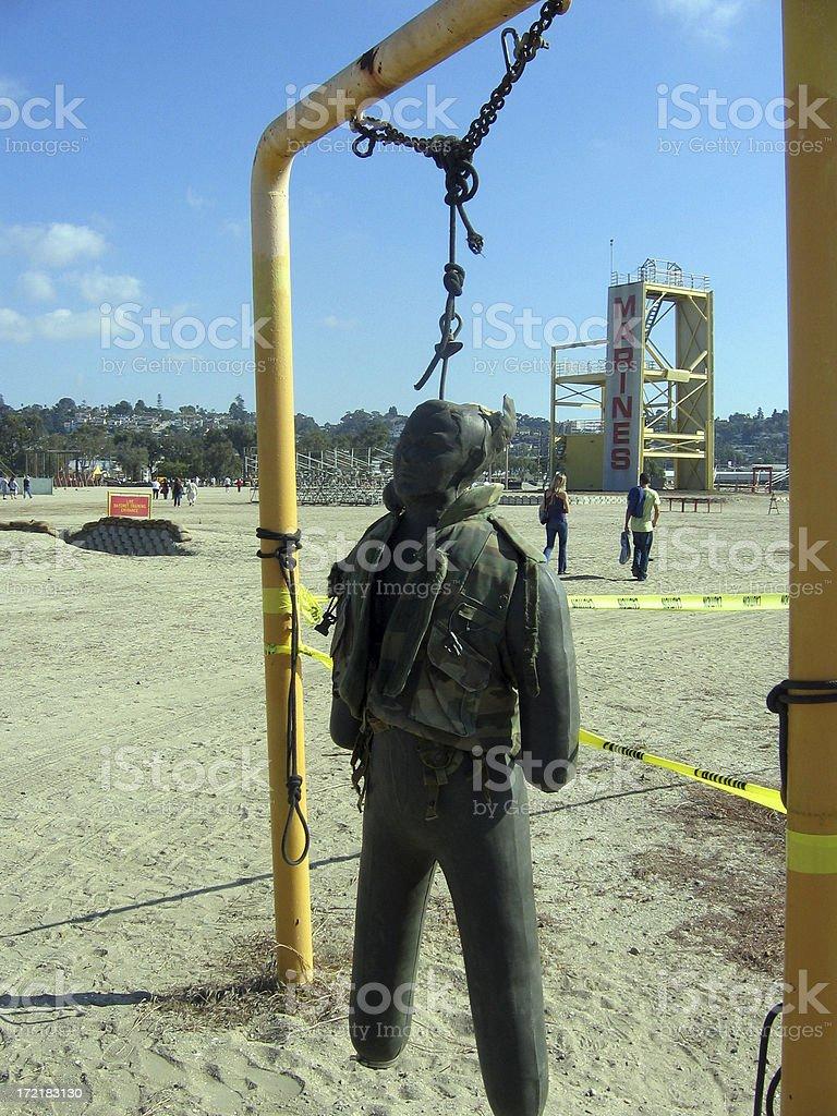 Bayonet Training Dummy royalty-free stock photo