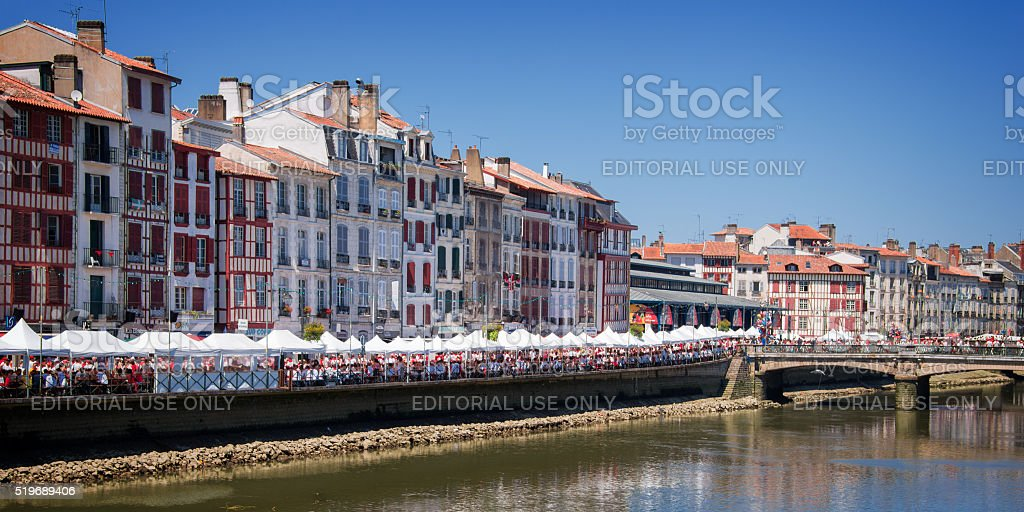 Bayonne during the Summer festival (Fetes de Bayonne) stock photo