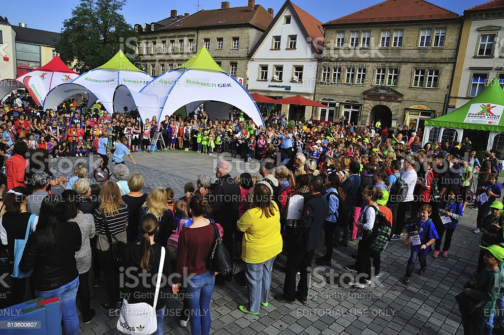 Bayreuth fitness day stock photo