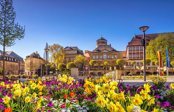 Bayreuth - Luitpoldplatz and La Spezia Platz stock photo
