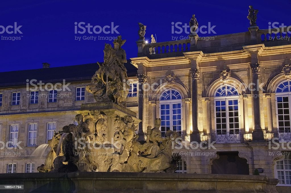 Bayreuth New Palace bei Nacht – Foto