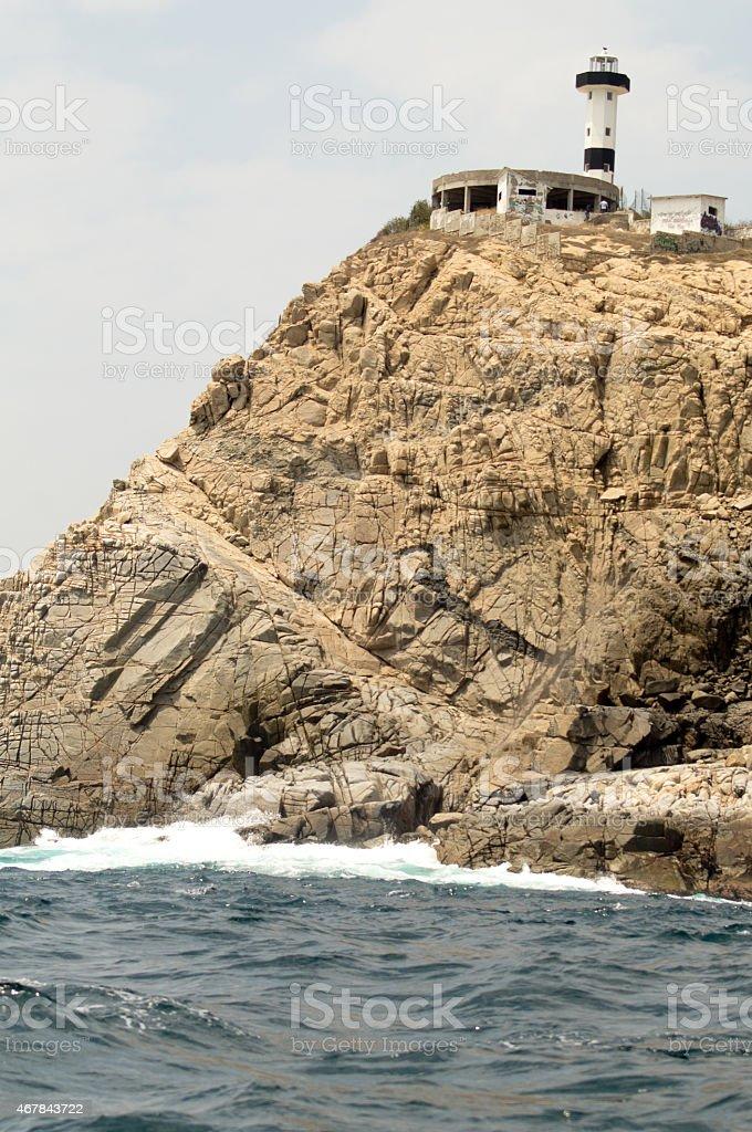 Bahías de Huatulco. Lighthouse. Punta Santa Cruz stock photo