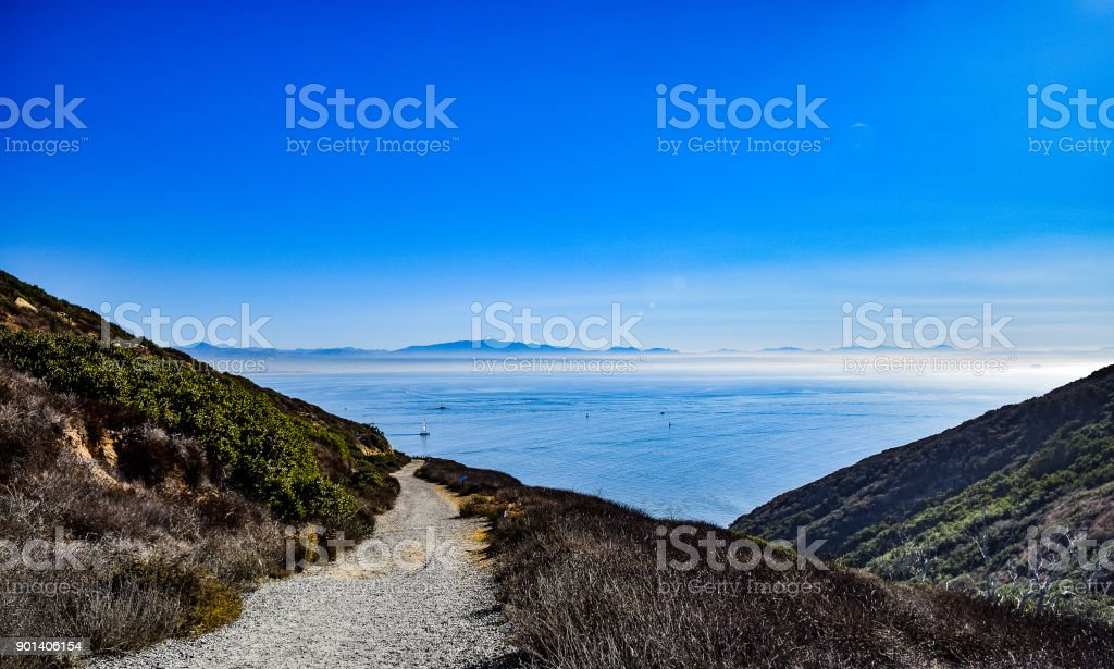Bayside Hiking Trail Overlook stock photo
