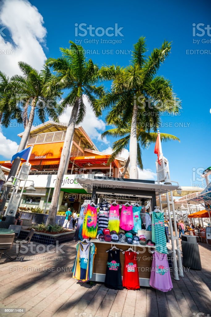Bayside Market place in Miami downtown, USA stock photo