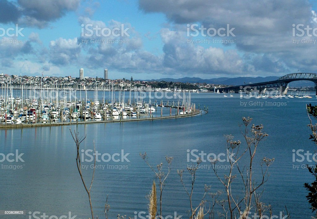 Bayswater Marina, North Shore, Auckland, New Zealand stock photo