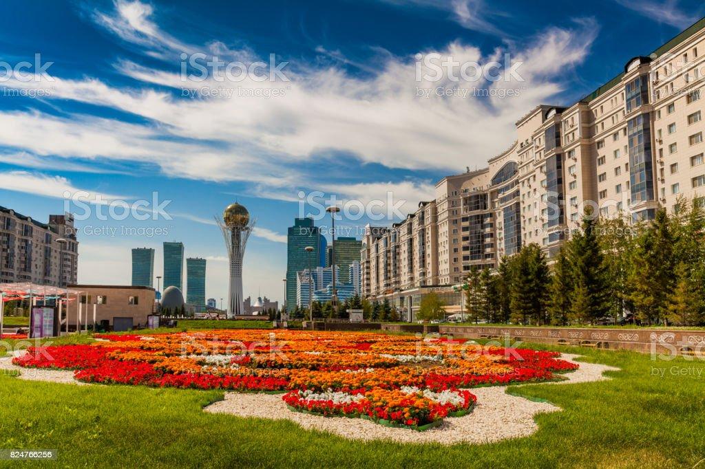 Bayterek Tower, Nurzhol Bulvar, Astana stock photo