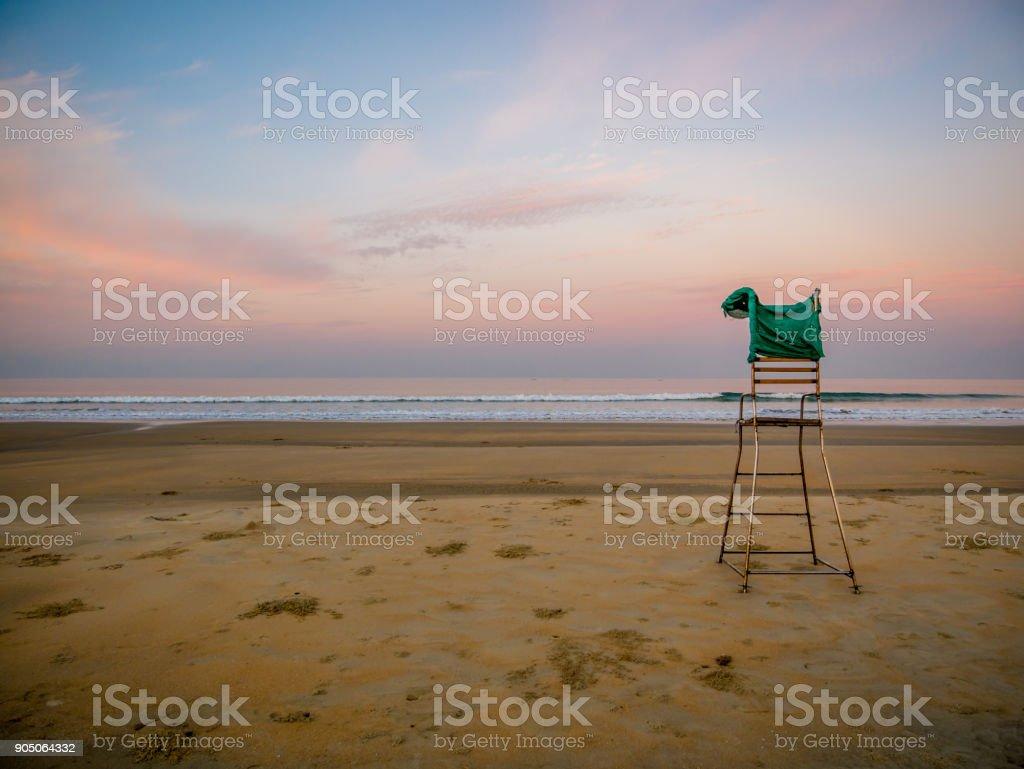 Baywatch chair stock photo