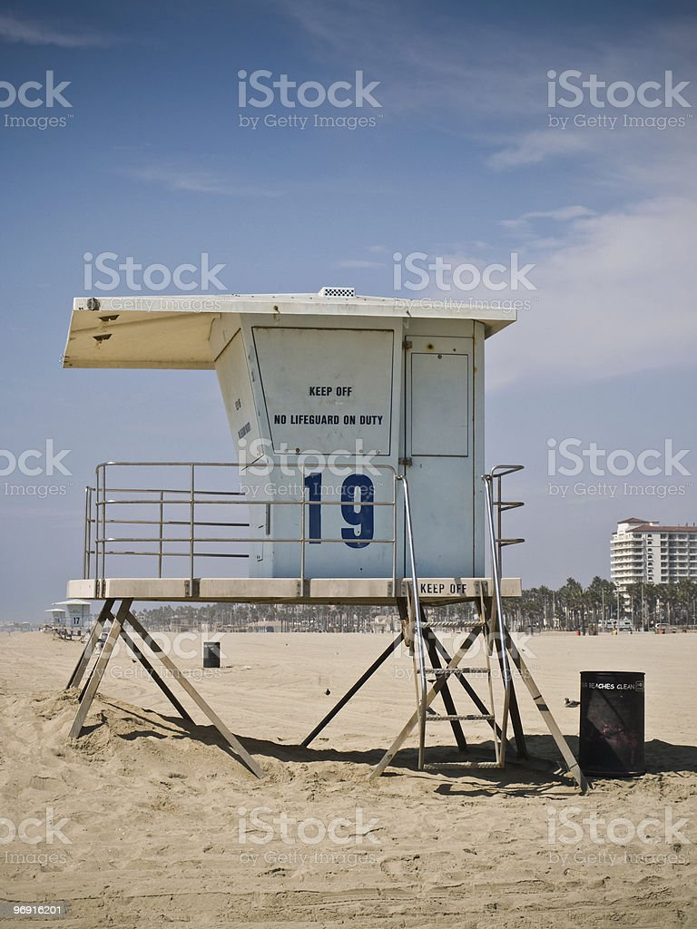 Baywatch Lifeguard Tower royalty-free stock photo
