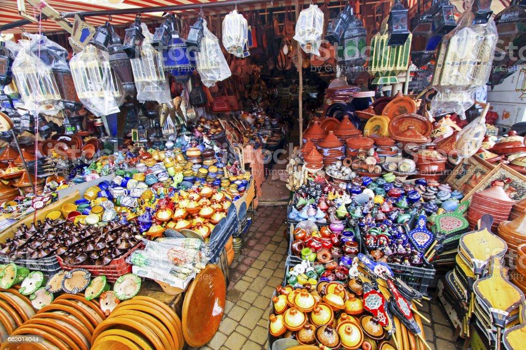 Bazaar Fez Morocco Artisan Souvenir Shop Stock Photo - Download Image Now