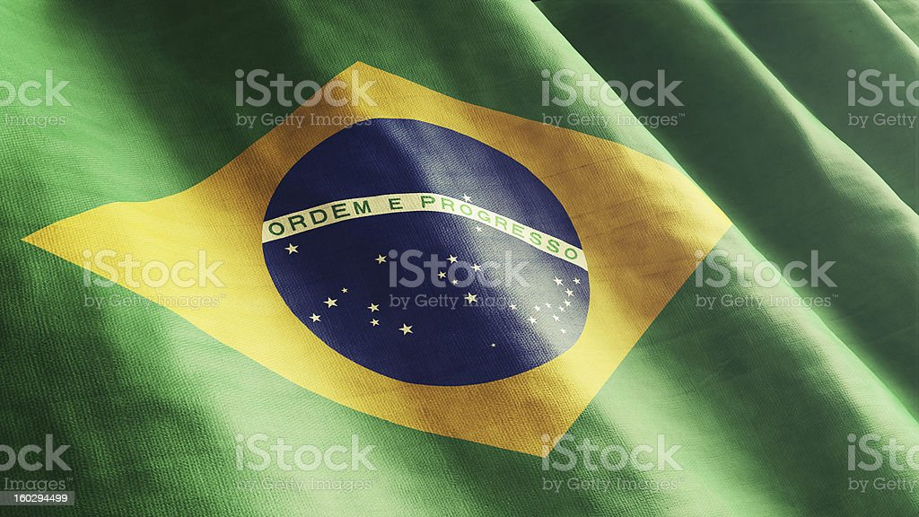 Bazilian Flag stock photo