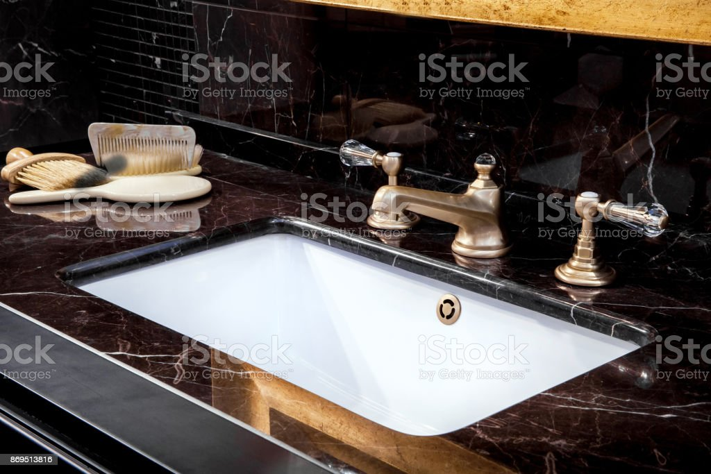 Bbath sink in a bathroom stock photo