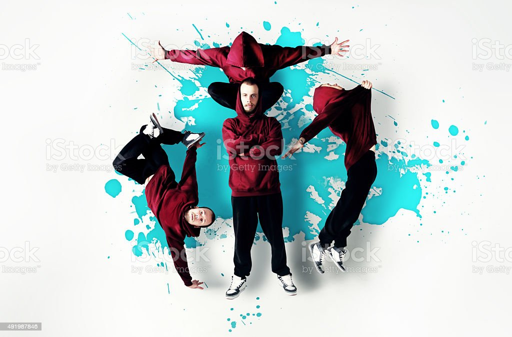 B-boy dancer. stock photo
