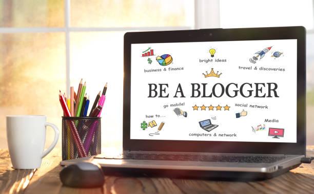 Ein Blogger Konzept im Home Office – Foto