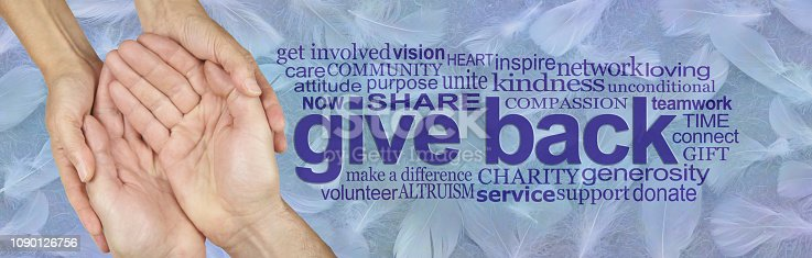 istock Be an Angel and Give Back 1090126756