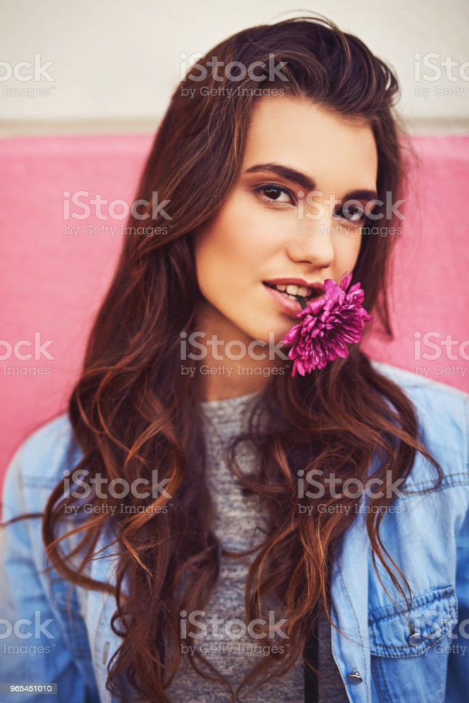 Be as free as loose petals in the wind royalty-free stock photo