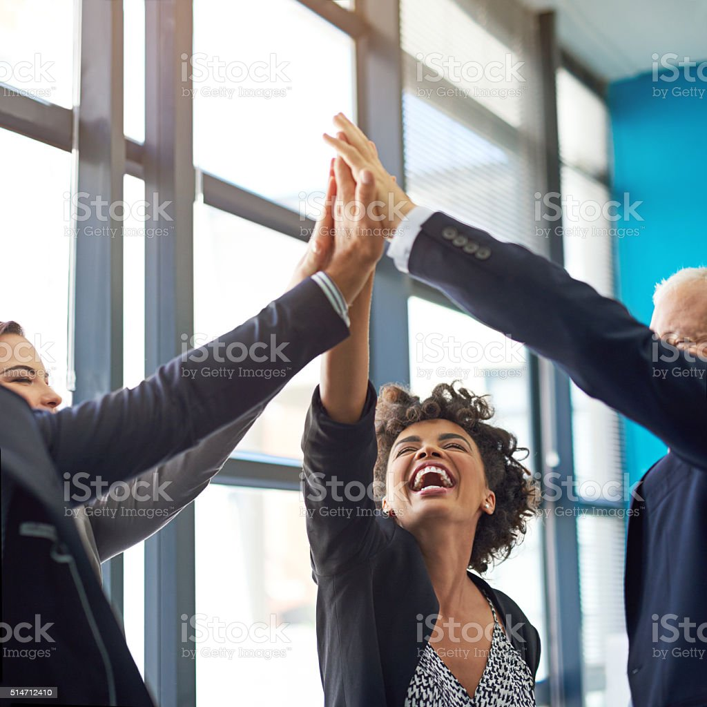 Be bold in the pursuit of success stock photo
