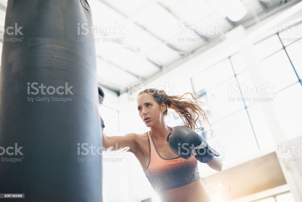 Be both fit and fierce - foto stock