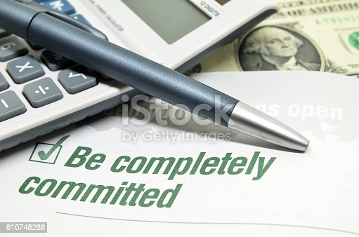 istock Be completely committed 810748288