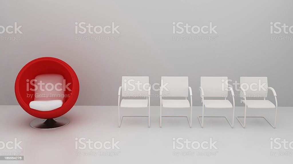 Be different, 3d concept stock photo
