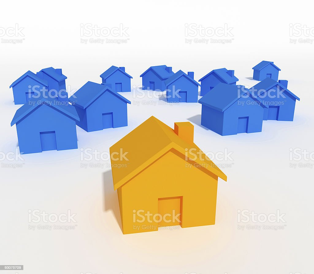 be different, house 3d royalty-free stock photo