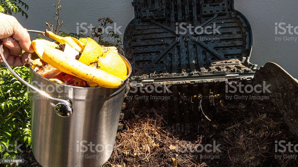 Be Green And Recycle Kitchen Waste stock photo