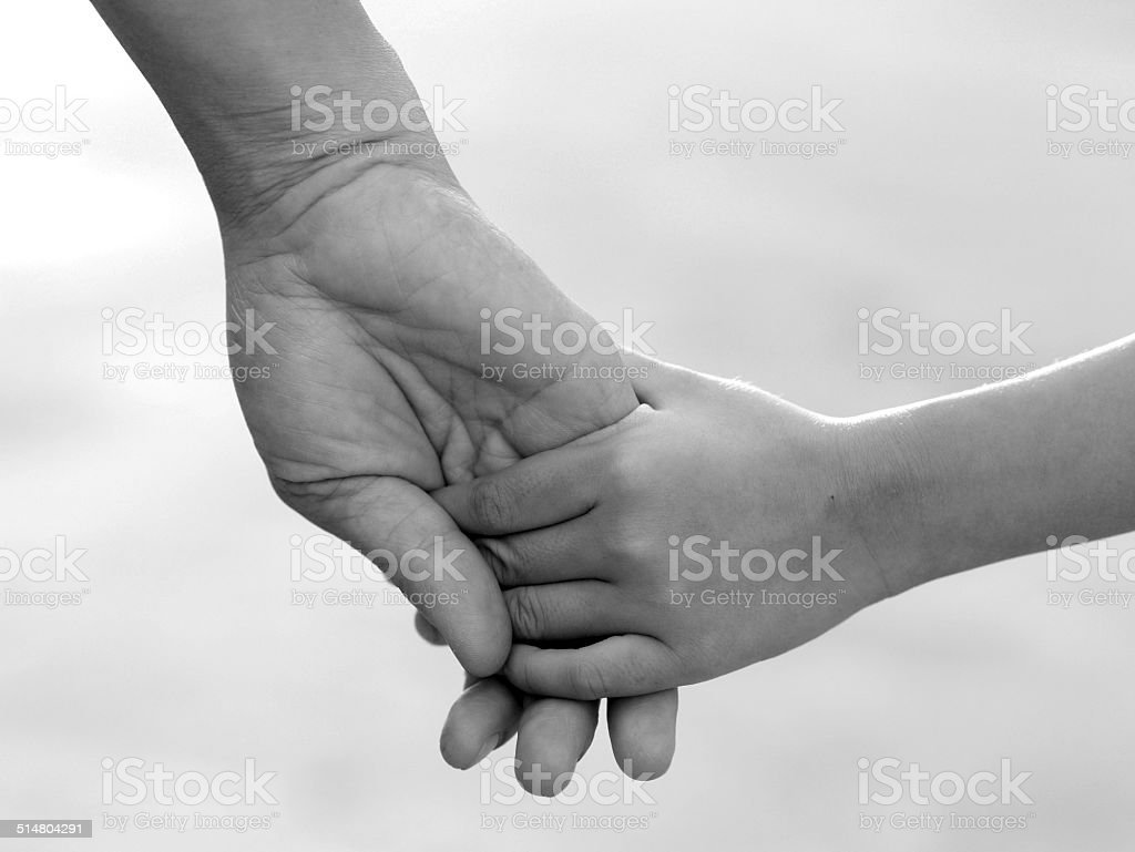 Be hand in hand , friendship and Binding stock photo
