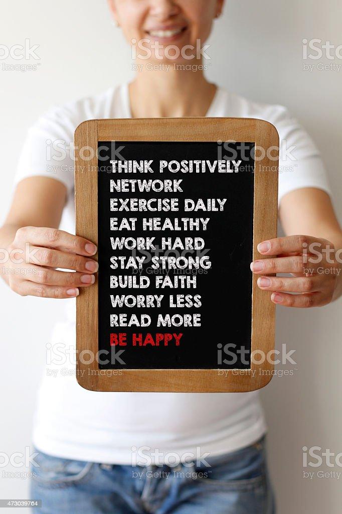 Be Happy stock photo