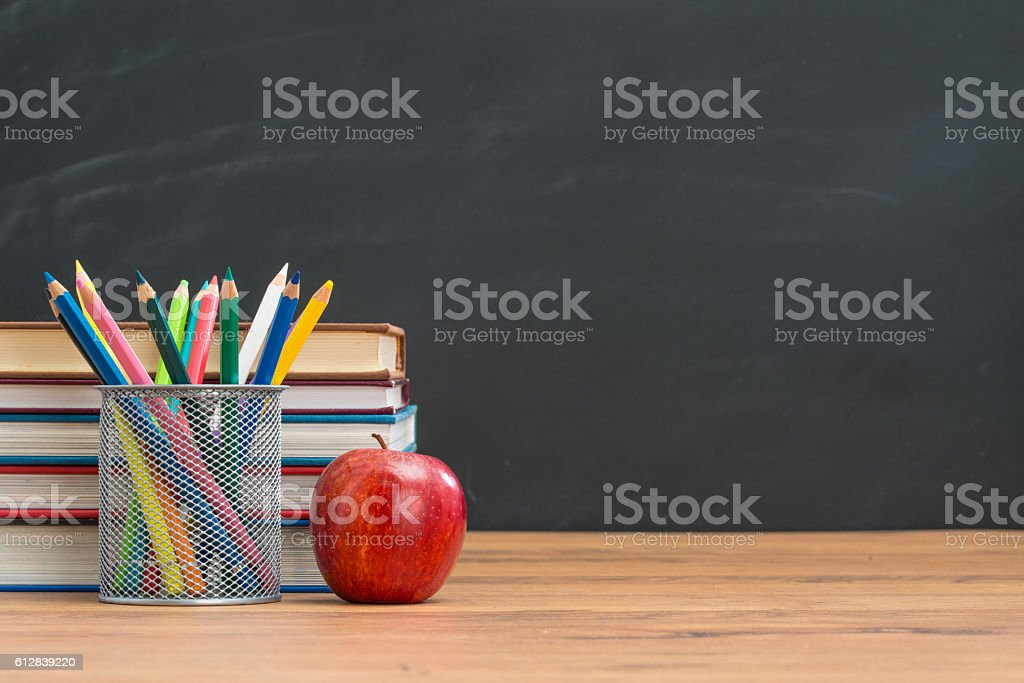 be healthy and smart with apple each day one stock photo