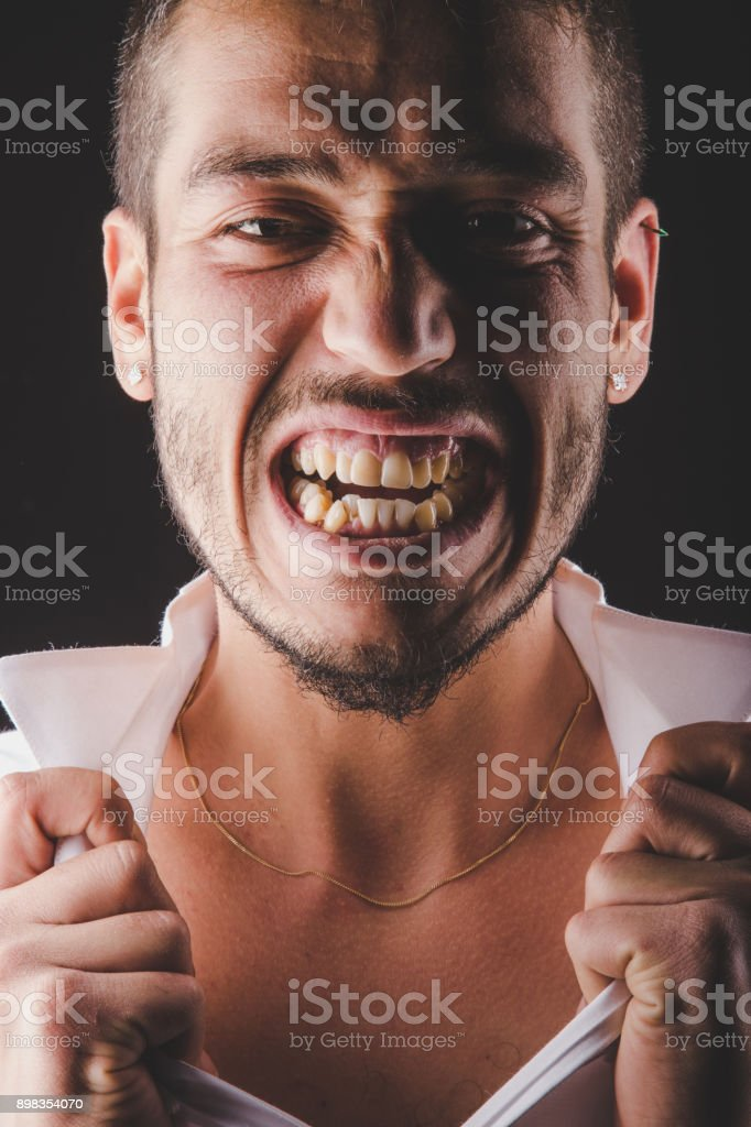 Be in a rage stock photo