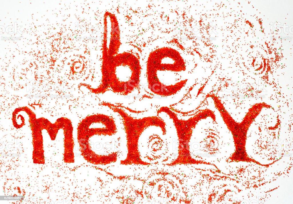 Be Merry stock photo
