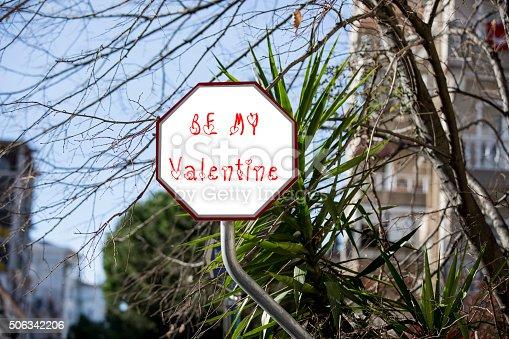 507397624 istock photo Be My Valentine Concept at city street 506342206