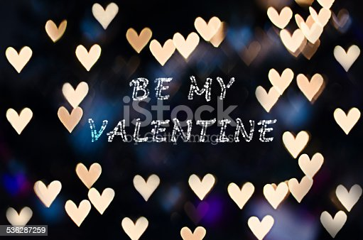 908708148 istock photo Be my Valentine with heart bokeh 536287259