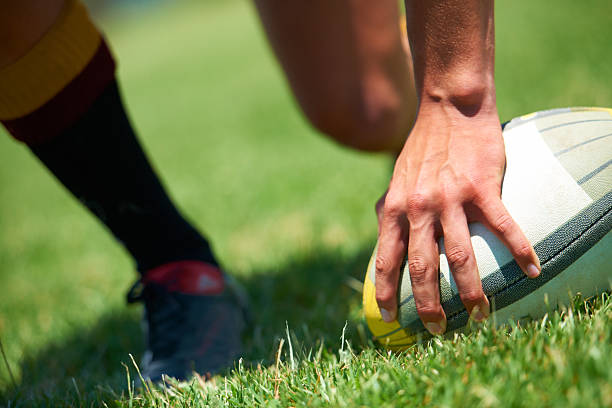 be one with the ball... - rugby stock photos and pictures