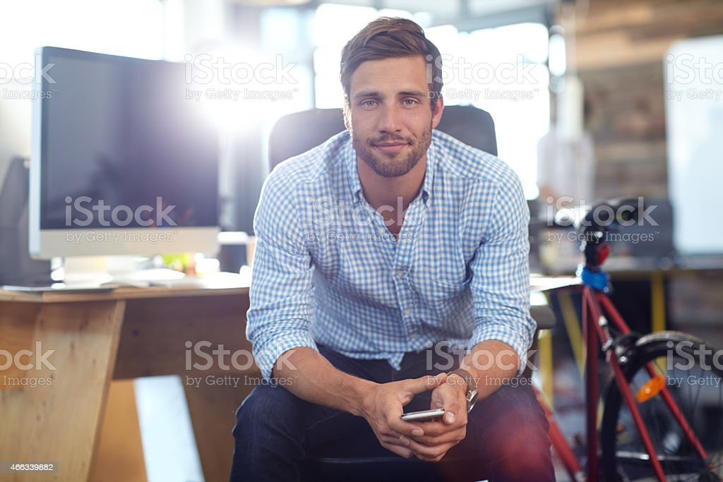 Be positive, patient and persistent stock photo
