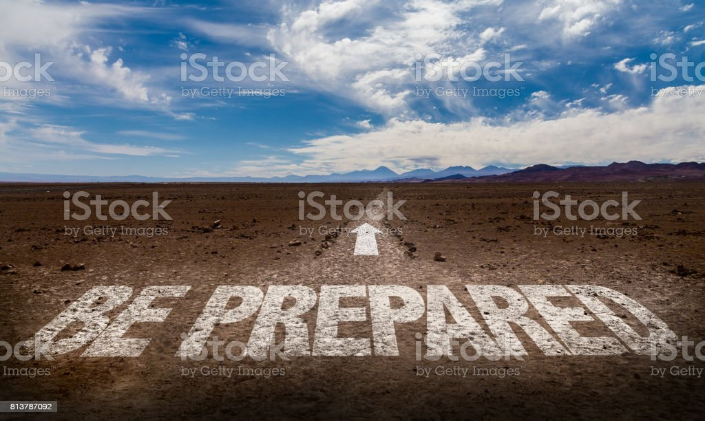 Be Prepared stock photo