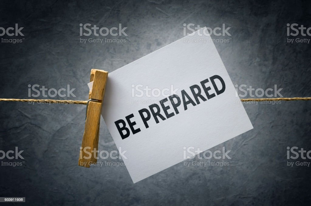Be Prepared royalty-free stock photo